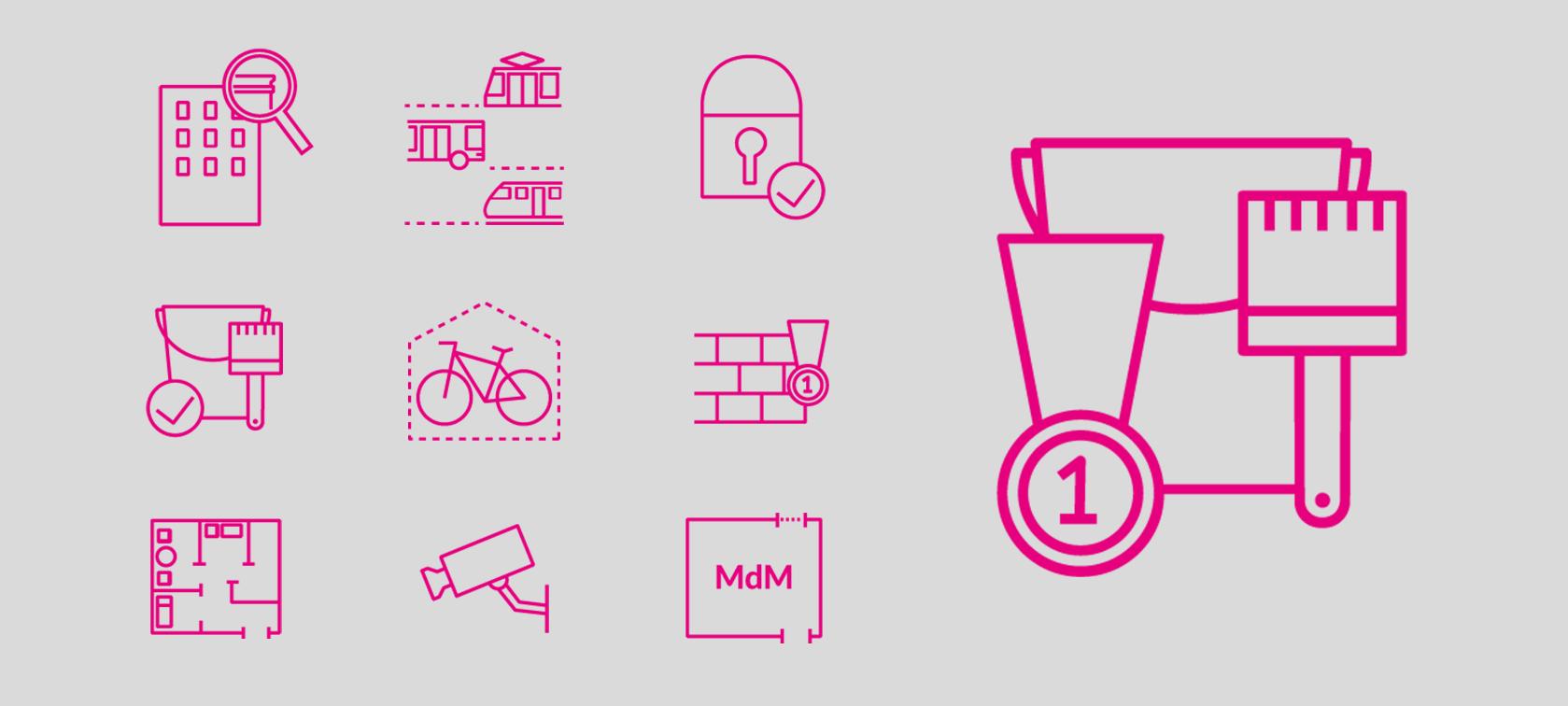 Branding ikony dlafirmy deweloperskiej Sento